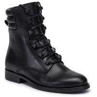 Botki - pin logo lace up boot en0en00697 black beh, Tommy jeans, 36-42