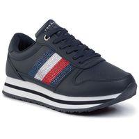 Tommy hilfiger Sneakersy - tommy retro crystal sneaker fw0fw04683 midnight cki
