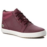 Lacoste Sneakersy - ampthill 318 1 caw 7-36caw00033c9 burg/off wht
