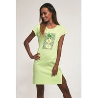 Bawełniana koszula nocna damska Cornette 612/177 Avocado 5 zielona, kolor zielony