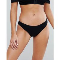 New look hook and eye hipster bikini bottoms - black