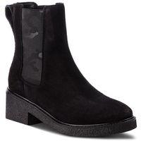 Botki TOMMY HILFIGER - Crepe Mid Heel Boot Suede FW0FW03046 Black 990, w 3 rozmiarach