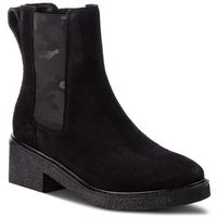 Botki TOMMY HILFIGER - Crepe Mid Heel Boot Suede FW0FW03046 Black 990, w 4 rozmiarach