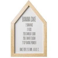 Plakat do kuchni Banana cake, przepis - Bloomingville, 50500039