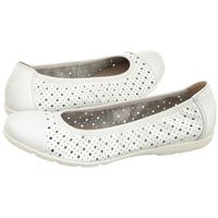 Baleriny białe 9-22151-20 102 white nappa (cp92-a) marki Caprice