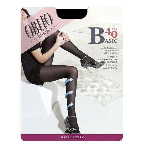 Rajstopy Oblio Basic 40 den 5XXL 5-2XL, szary/antracit, Oblio