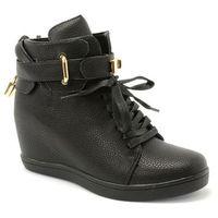 Botki sneakersy 2666-63 czarny marki Elegance