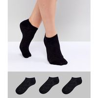 Fruitcake 3 Pack Printed Ankle Socks - Black, kolor czarny