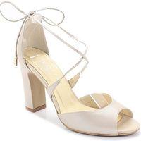 5901 perła lico - taneczne sandałki ślubne - beżowy marki Kotyl