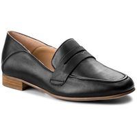 Clarks Półbuty - pure iris 261379504 black leather