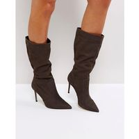 special grey suede slouch heeled ankle boots - grey marki Carvela
