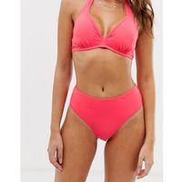 Pour moi pool party high leg bikini bottoms in coral - pink
