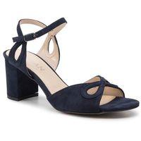 Sandały SAGAN - 3653 Granatowy Welur, w 4 rozmiarach
