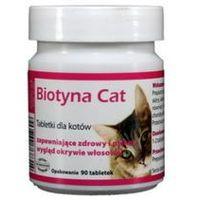 biotyna cat - tabletki dla kotów zapewniające zdrowy i piękny wygląd okrywie włosowej 90 tab. marki Dolfos