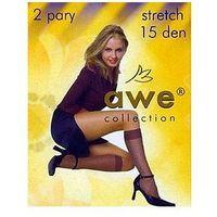 Podkolanówki stretch 15 den a'2 uniwersalny, beżowy/visone, awe, Awe