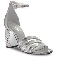 Sandały R.POLAŃSKI - 0931 Srebrny Kryształ, kolor szary
