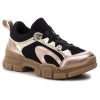 Sneakersy HEGO'S MILANO - 1104 Ape Plat/Rame/Nero