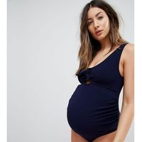 Peek & Beau Maternity Exclusive texture swimsuit DD - G Cup in navy - Multi, 1 rozmiar
