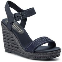 Tommy hilfiger Espadryle - colorful tommy wedge sandal fw0fw04160 midnight 403