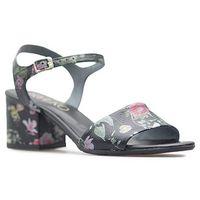 Sandały Ryłko 5DGP3_t7_XH7 Czarne lico+kwiaty
