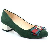 170/mk zielone - czółenka z owadem - zielony marki Tymoteo