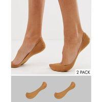 2 pack invisible socks in golden bronze - beige, Asos design