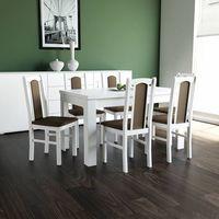 Drewmix Stół s-44 (80x120/165) + 6 krzeseł boss vii