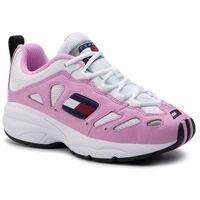 Sneakersy TOMMY JEANS - Retro Sneaker EN0EN00584 Pink Mist/White 901
