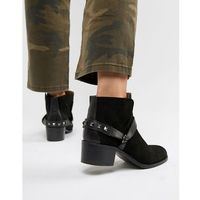 london black suede western ankle boots - black marki Hudson