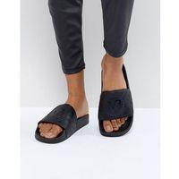 Versace Jeans Quilted Logo Slider - Black