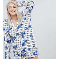 Asos design curve pansy traditional 100% modal short pyjama set - white, Asos curve