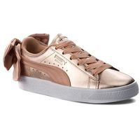 Sneakersy - basket bow luxe wn's 367851 01 dusty coral/puma white marki Puma