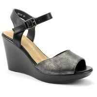 Sandały Sergio Leone 39210 c.srebrny, 1 rozmiar