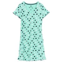 Koszula nocna bonprix niebieski mentolowy w kropki, 1 rozmiar