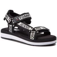Sandały - mesh webbing sporty sandal en0en00568 black 990, Tommy jeans, 35-42