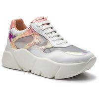 Sneakersy - monster mesh 0012013592.03.1n02 bianco/argento marki Voile blanche