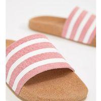 originals cork adilette slider sandals in pink - pink marki Adidas