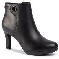 Clarks Botki - adriel mae 261444174 black leather