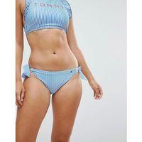 seersucker side tie bikini bottom - blue, Tommy hilfiger