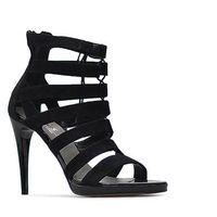 Sandały Nessi 79206 Czarne zamsz