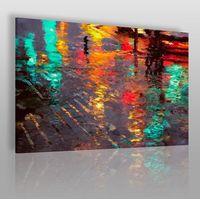 Vaku-dsgn Odbicie deszczowego miasta - nowoczesny obraz na płótnie