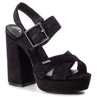 Sandały - kl30205 black velvet marki Karl lagerfeld