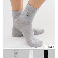 Monki face embroidery 3-pack socks - Multi