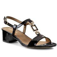 Sandały - 2320 czarny lakier złoty marki Sagan