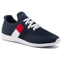 Sneakersy - knitted flag light sneaker fw0fw04144 midnight 403, Tommy hilfiger