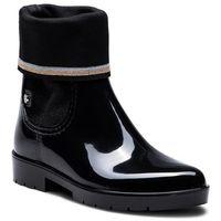 Kalosze - knitted sock rain bo fw0fw03565 black 990, Tommy hilfiger, 36-42