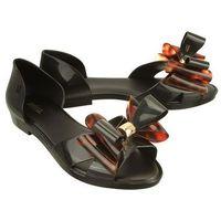 Melissa 31920 seduction ii ad 52812 black/tortoise, sandały damskie - czarny