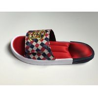 Klapki Juice7 CLOT X Adidas Slide Czerwone/białe/granatowe/złote, kolor niebieski