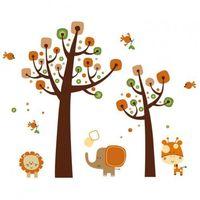 Naklejka Ścienna Drzewo Retro i Zwierzaki, G3AB-140A3