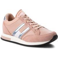 Tommy jeans Sneakersy - casual retro sneaker en0en00317 mohogany rose 641
